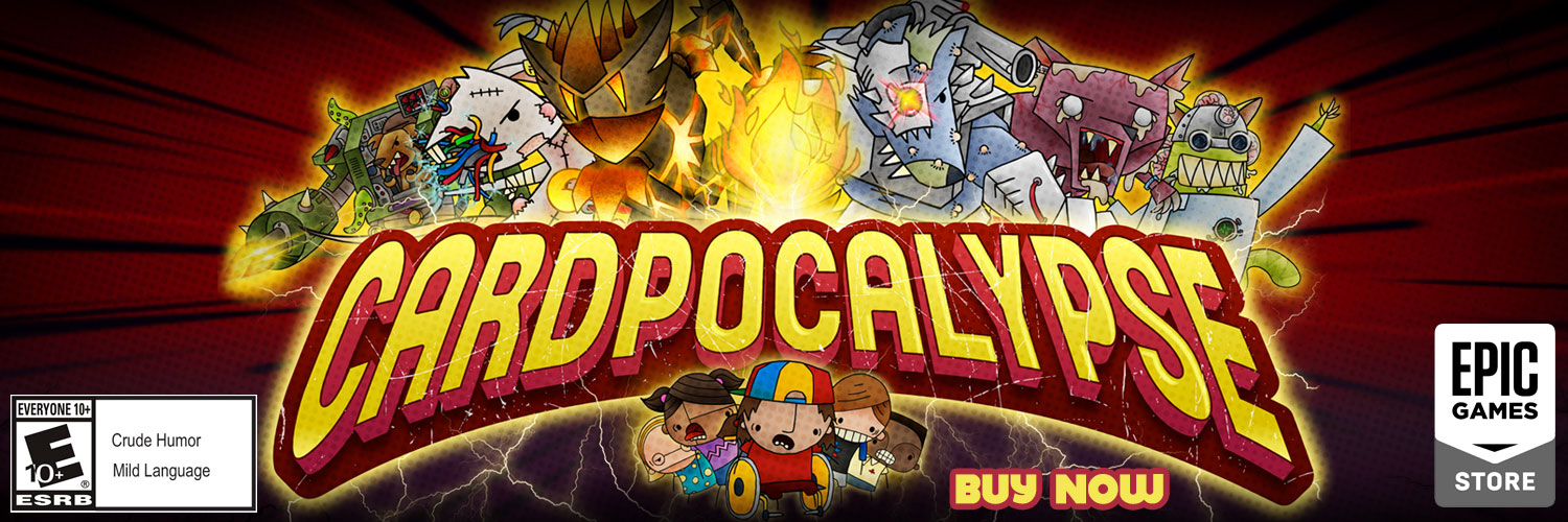 Cardpocalypse Out Now on Apple Arcade and the Epic Games store. Save 20% for Launch Week!